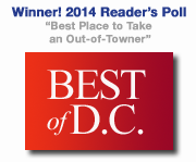 Winner 2014 Reader's Choice from Washington City Paper